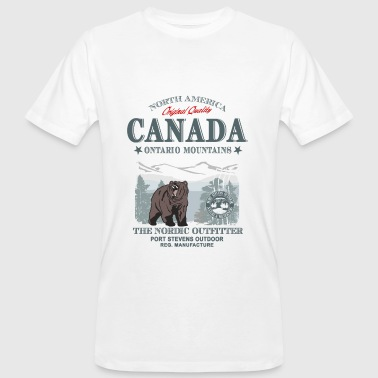Canada - Grizzly Bear - Männer Bio-T-Shirt