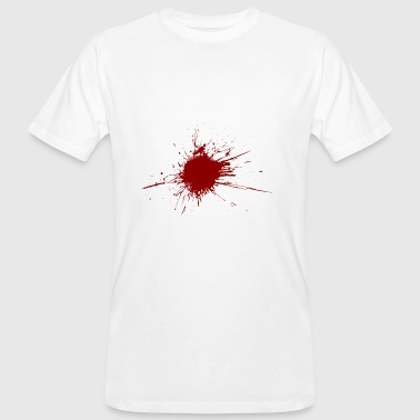Blood spatter from a bullet wound - Men's Organic T-shirt