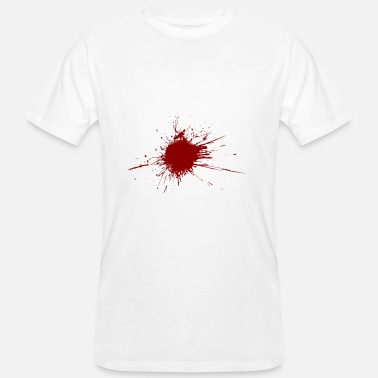 Gunshot Wound Blood spatter from a bullet wound - Men's Organic T-Shirt