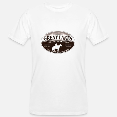 Ontario Great Lakes - Männer Bio-T-Shirt