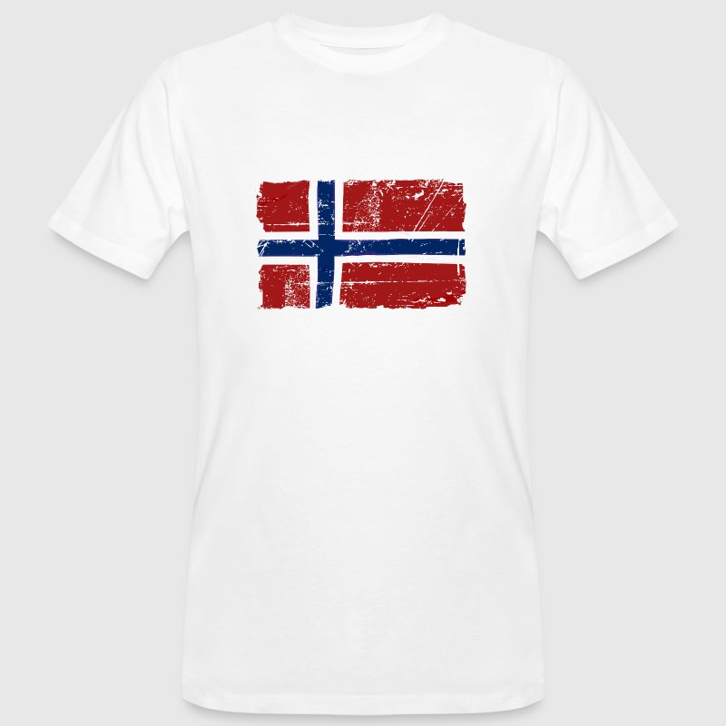 Norway Flag - Vintage Look  - T-shirt ecologica da uomo