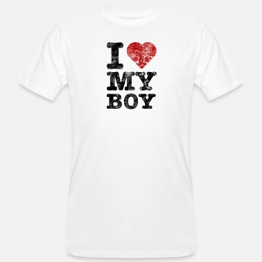 I Love I Love my Boy vintage dark - Männer Bio-T-Shirt