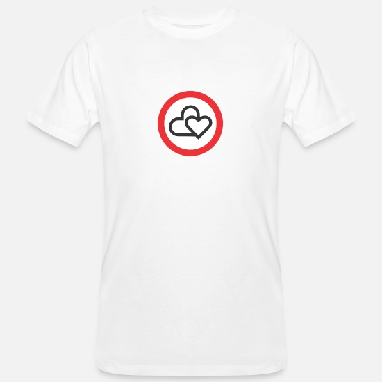 S'aimer T-shirts - Stop Amour - T-shirt bio Homme blanc