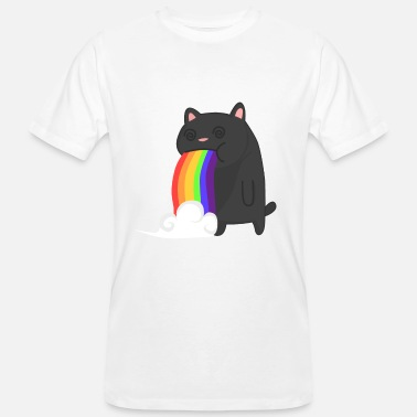Nyan Cat Puking Rainbow Cat Fancy Cat Funny Kitty - Økologisk T-skjorte for menn