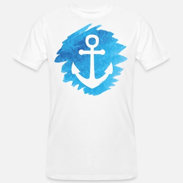 Anchor watercolor - Men's Organic T-Shirt