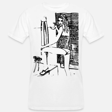 Sexy Girl Sexy girl in erotic position - Men's Organic T-Shirt