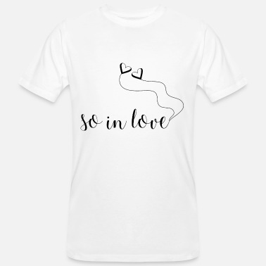 Love With Heart So In Love with Heart Balloons - Mannen bio T-shirt