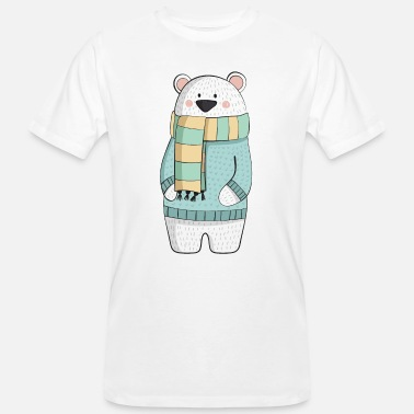 For Kids Eisbaer winter - Men's Organic T-Shirt
