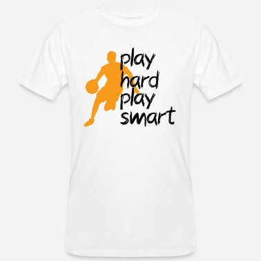 Rebound play hard play smart basketball - Men's Organic T-Shirt