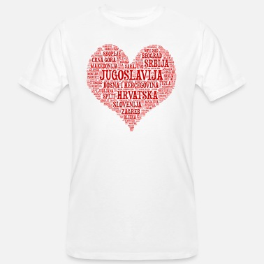 Yougoslavie Yougoslavie HEART design 01r - T-shirt bio Homme
