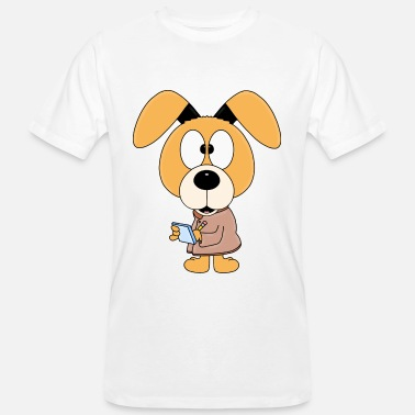 Secret Agent Dog - secret agent - animal - comic - Men's Organic T-Shirt