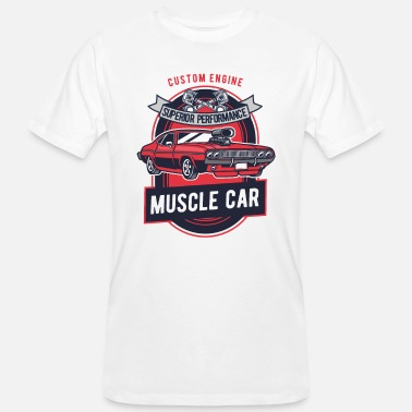 Plymouth Muscle Car V8 Route Ontstekingssequentie Tuning Rockabilly - Mannen bio T-shirt