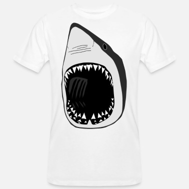 Shark white shark jaws sharks fish fishing scuba diving - Men's Organic T-Shirt