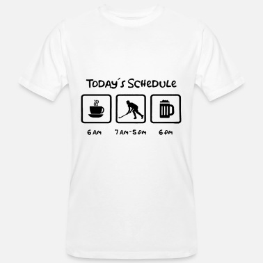Floor Hockey Todays Schedule Hockey Ice Hockey Floor ball - Men's Organic T-Shirt