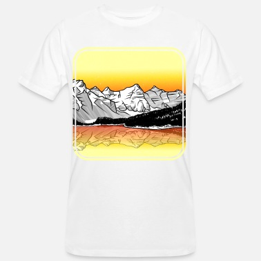 Rocky Mountains Morenemeer Rocky Mountains - Mannen bio T-shirt