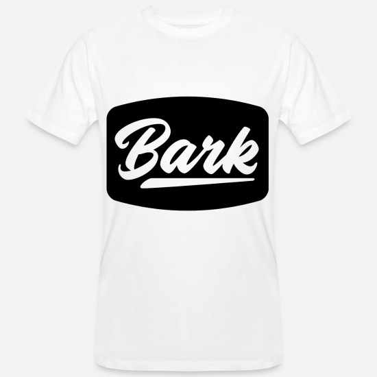 Voice T-Shirts - Dog Barking Wuff Wuff Black Cool gift - Men's Organic T-Shirt white