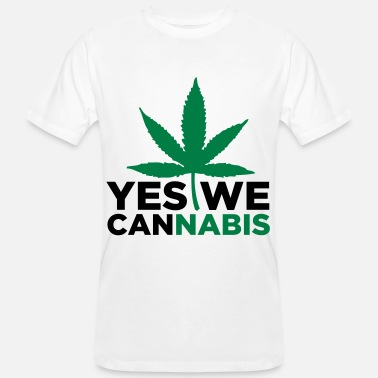 Yes We Cannabis Yes We Cannabis! - Økologisk T-skjorte for menn