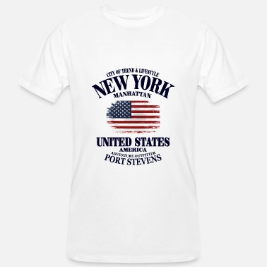 Usa New York - USA Vintage Flag - Männer Bio T-Shirt