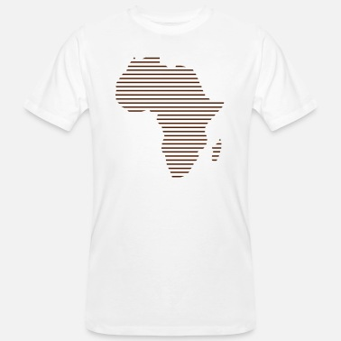 Map Africa / / Africa map / / Abstract / / lines - Men's Organic T-Shirt