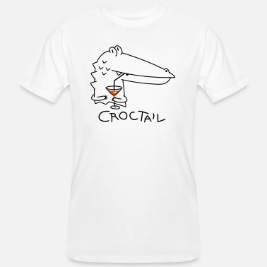 Coctail Funny crocodile with coctail (b) - Men's Organic T-Shirt