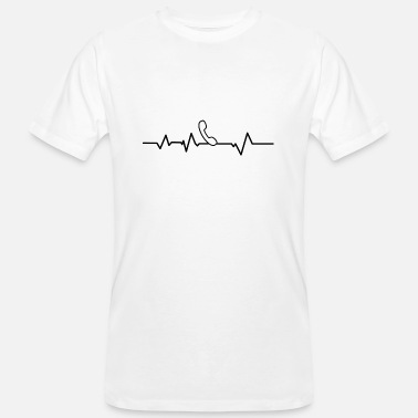 Make Phone Calls Phone calling heartbeat - Men's Organic T-Shirt