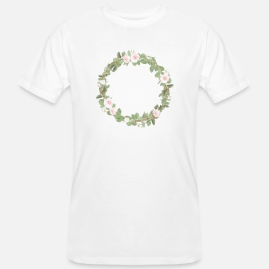 Whole Natural Leafy with Flowers - Men's Organic T-Shirt