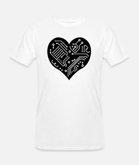 Heart T-Shirts - Technology Heart - Men's Organic T-Shirt white