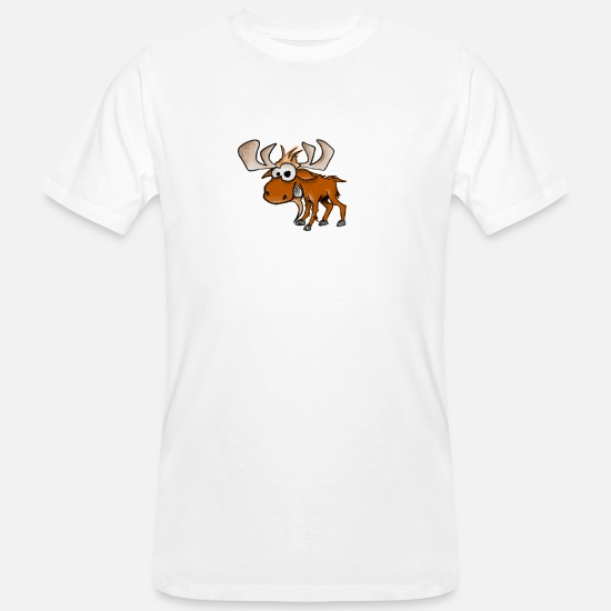 Art T-Shirts - Happy Moose - Men's Organic T-Shirt white