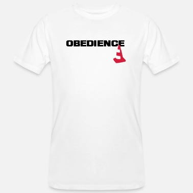Obedience Obedience with pylons - Men's Organic T-Shirt