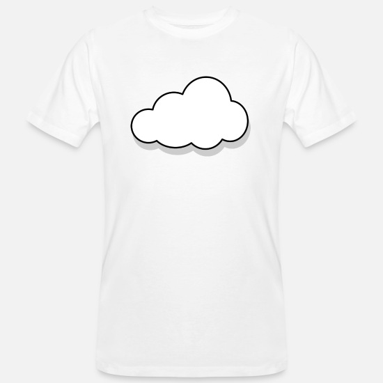 Rain T-Shirts - rainbow sun clouds weather rainbow sun cloud93 - Men's Organic T-Shirt white