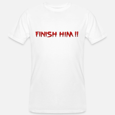 Beat Em Up Finish Him Retro - Men's Organic T-Shirt