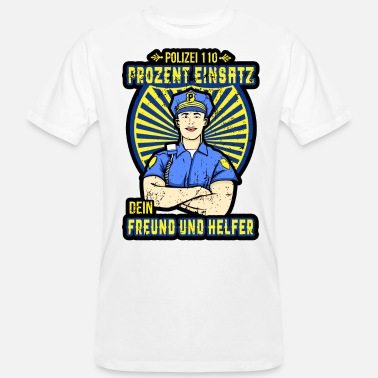 Police Station Police 110 Police Chief Police Station Policeman - Men's Organic T-Shirt