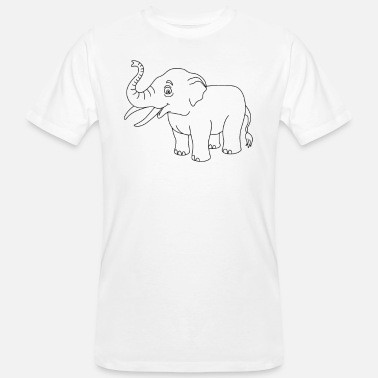Outline Graphics Elephant elephant outline animal outline outline graphics - Men's Organic T-Shirt