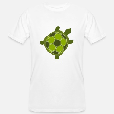 Soccer Tanks Funny turtle with soccer tank - Men's Organic T-Shirt