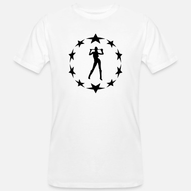 Circle Underwear stars wreath special - Men's Organic T-Shirt