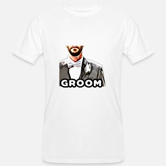 Love T-Shirts - GROOM - Men's Organic T-Shirt white