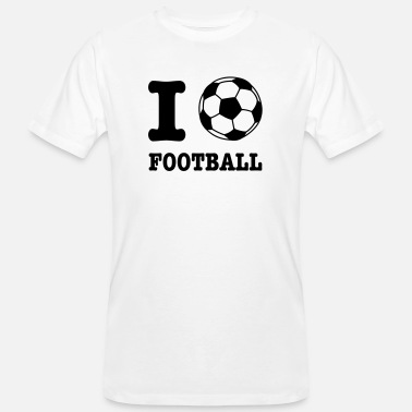 I Love Football I Love Football - Mannen bio T-shirt