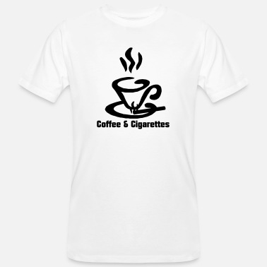 Zigarette Coffee and Cigarettes - Männer Bio T-Shirt
