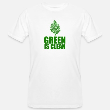 Clean Earth Green is clean, Earth day - Men's Organic T-Shirt