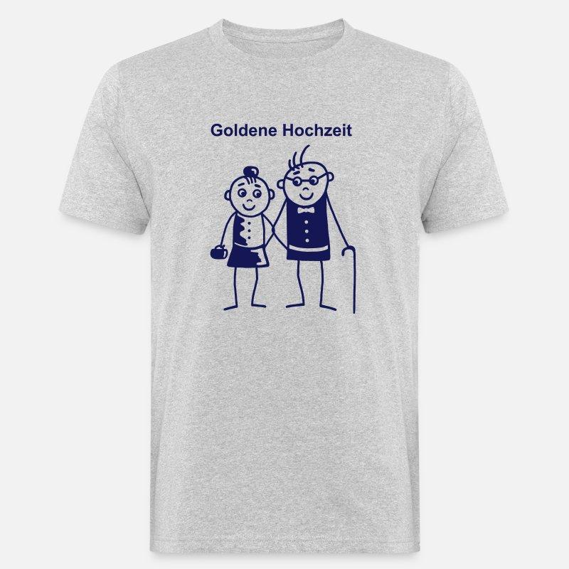 Goldene Hochzeit Mens Organic T Shirt Heather Grey
