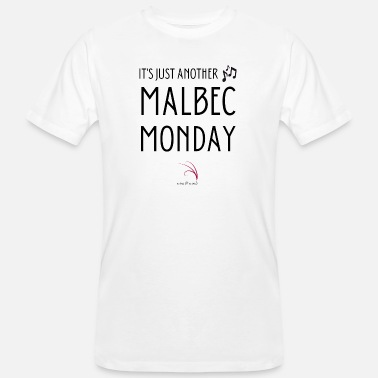 Bordeaux Wine quote Just another Malbec Monday - Mannen bio T-shirt
