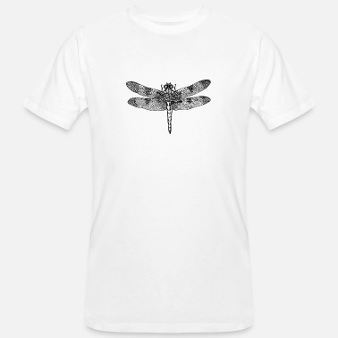 Insect Dragonfly dragonfly drawing insect outline retro - Men's Organic T-Shirt