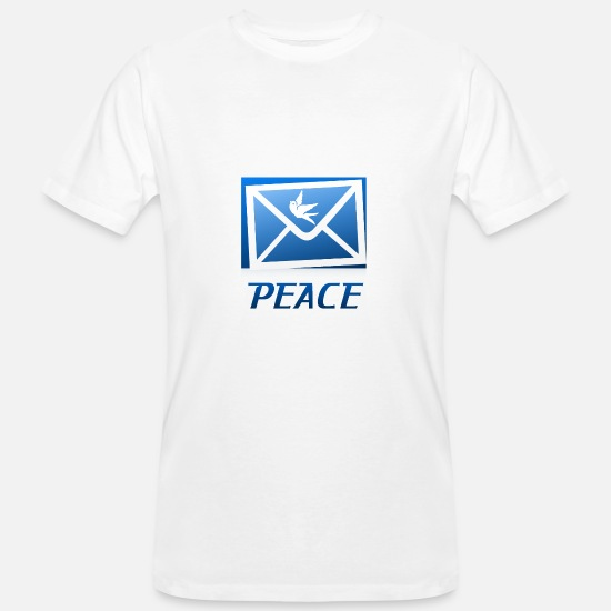Peace Sign T-Shirts - peace - Men's Organic T-Shirt white