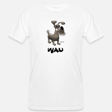 Wau Enillo Cartoon Dog Wau - Men's Organic T-Shirt