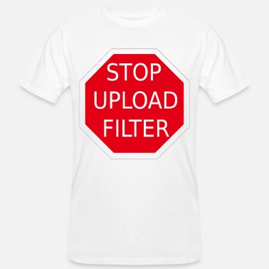 Upload STOPP UPLOAD FILTER - Ekologisk T-shirt herr