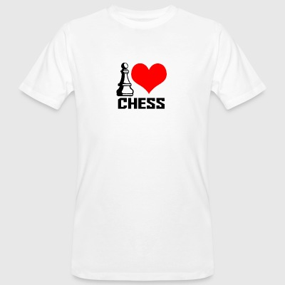 i love chess - Männer Bio-T-Shirt