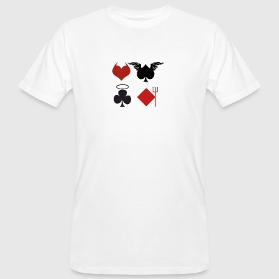 Poker Blackjack Ass Devil Devil Casino Angel Card - Men's Organic T-shirt