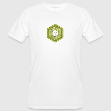 TESSERACT, Hypercube 4D, Crop Circle, 17th July 2010, Fosbury, Wiltshire, Symbol - Dimensional Shift - Men's Organic T-shirt