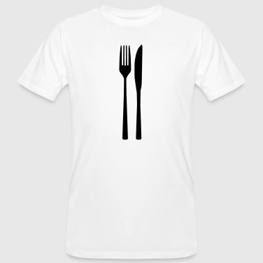 Knife Fork - Spoon fork - Men's Organic T-shirt