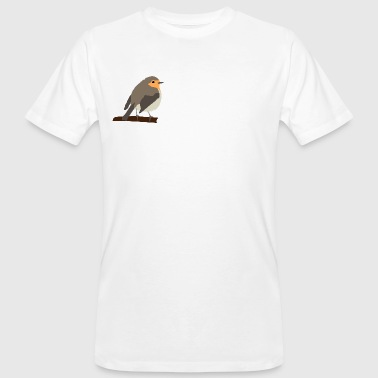 Red-throated logo - Men's Organic T-shirt